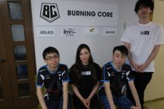 Burning Coreのかずのこ選手、立川選手、なないキャスターと