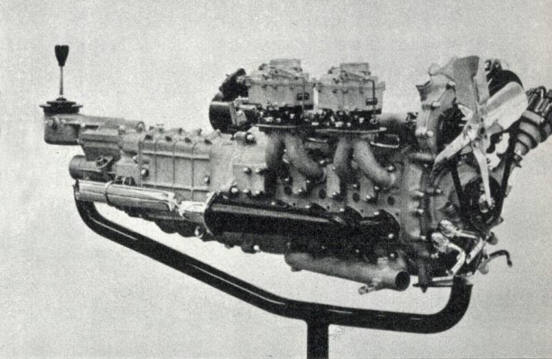 単室容積400cc 4ローターの試作ロータリーエンジン。