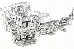L10Aエンジンの透視図。