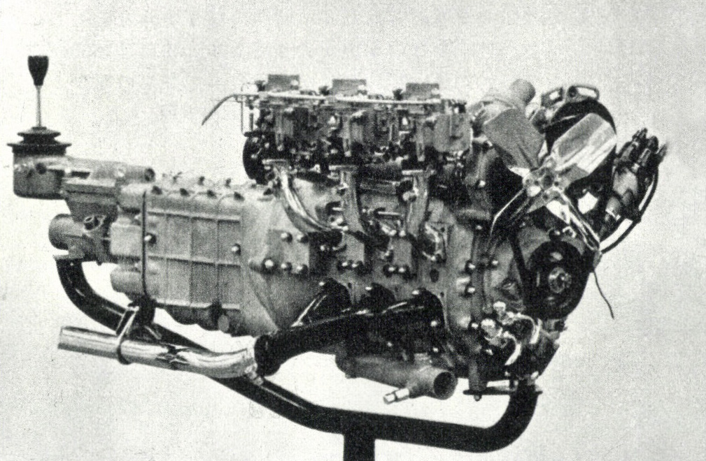 単室容積400cc 3ローターの試作ロータリーエンジン。