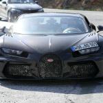 謎のブガッティ シロンをスクープ。新たな派生モデルは「ライト」!? - Spy shot of secretly tested future car