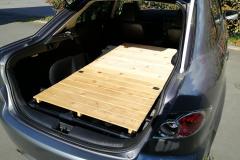 車中泊用ベッドDIY