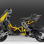 スクーター嫌いも唸るデザイン!? 「攻めすぎたスクーター」ITALJET DRAGSTER125/200が来日決定 -
