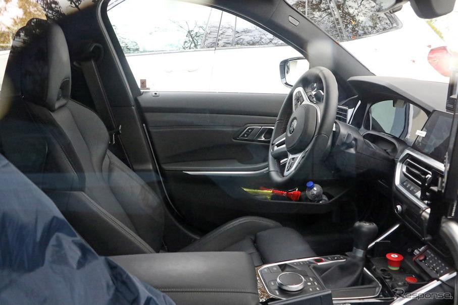 「メガグリルが完全露出! BMW M3次期型、9月デビューへ」の1枚目の画像