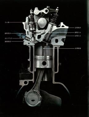 CVCCエンジンカットモデル