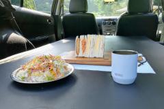 車中泊とセットの食事