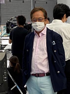 イベント中の清水和夫さん