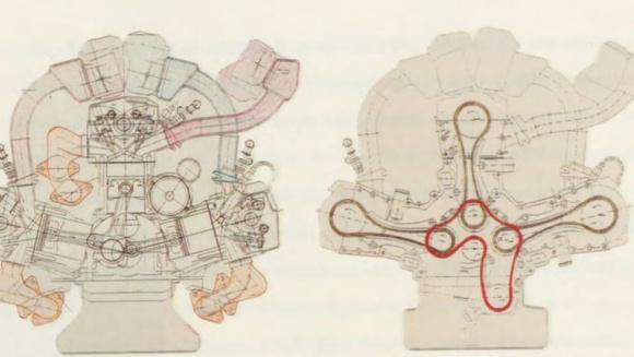メルセデスベンツ W18設計図