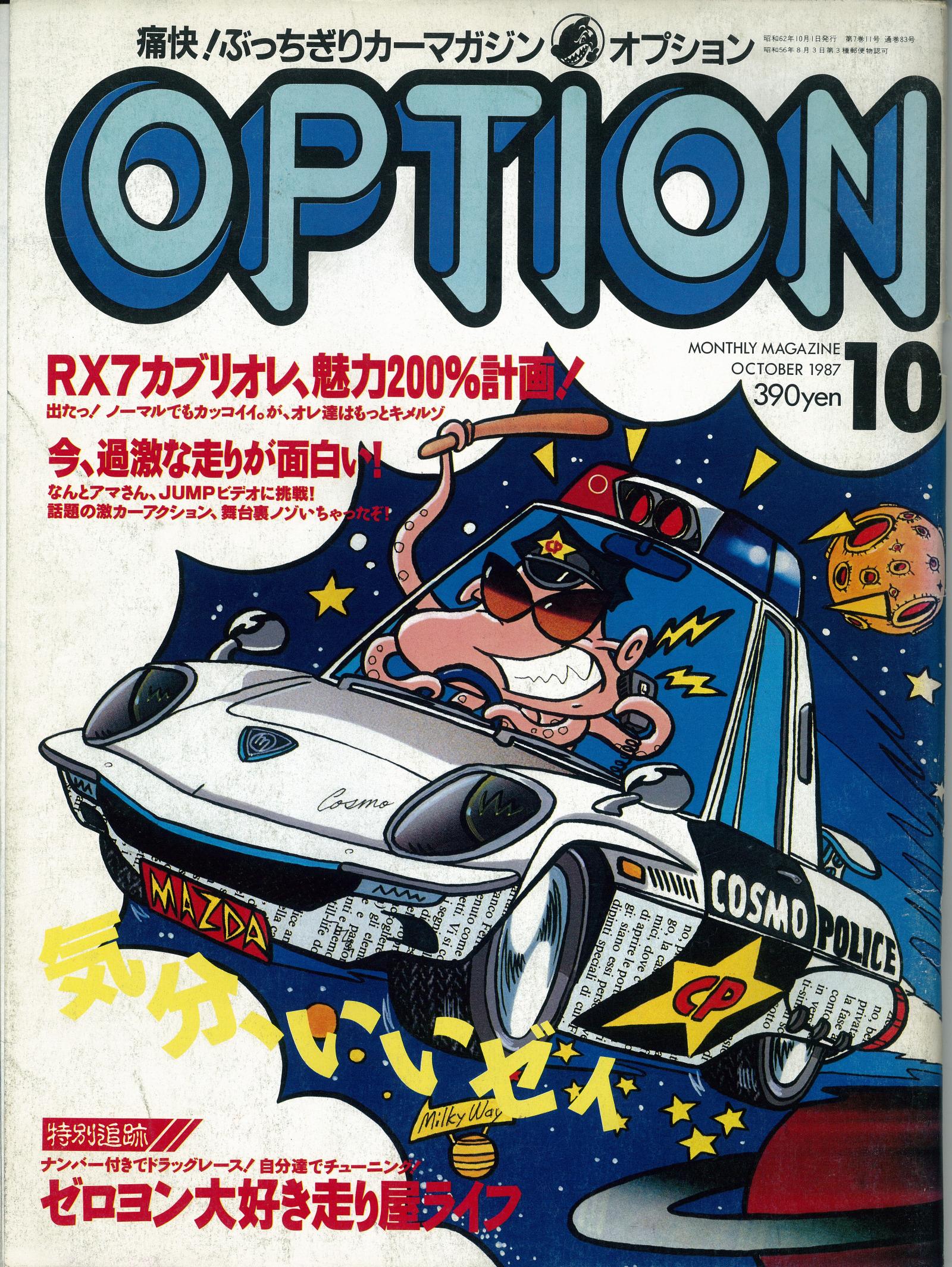 1987年10月号のOPTION誌表紙