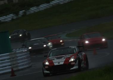 悪天候の中のレース