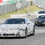 アウディ「e-tron GT」が年内ワールドプレミアへ! 兄弟ポルシェ・タイカンと共に出現 - Audi e-tron GT Nürburgring 16