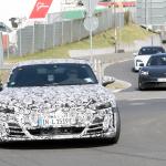 アウディ「e-tron GT」が年内ワールドプレミアへ! 兄弟ポルシェ・タイカンと共に出現 - Audi e-tron GT Nürburgring 18