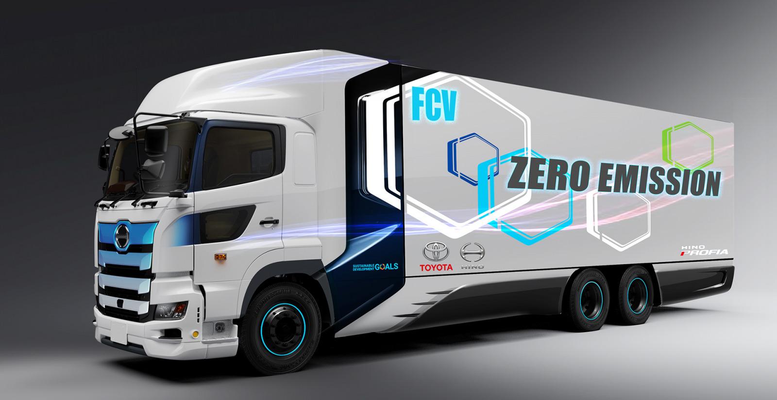 走行時CO2排出量ゼロの燃料電池大型トラックをトヨタと日野自動車が北米で開発 | clicccar.com