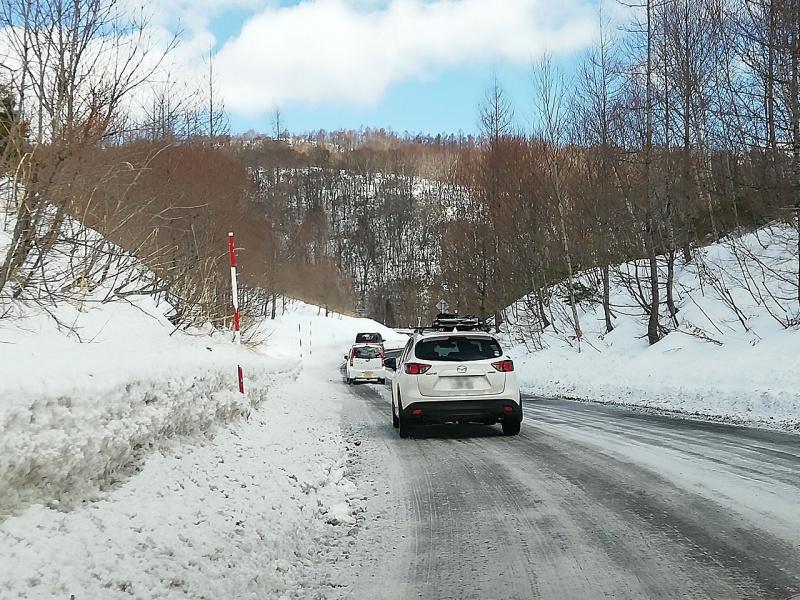 日本の雪道