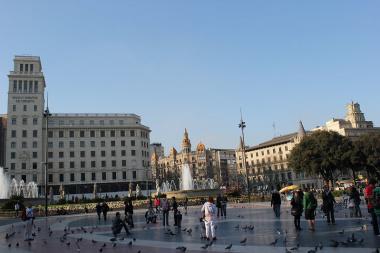 バルセロナ中心地にあるPlaça de Catalunya(カタルーニャ広場)