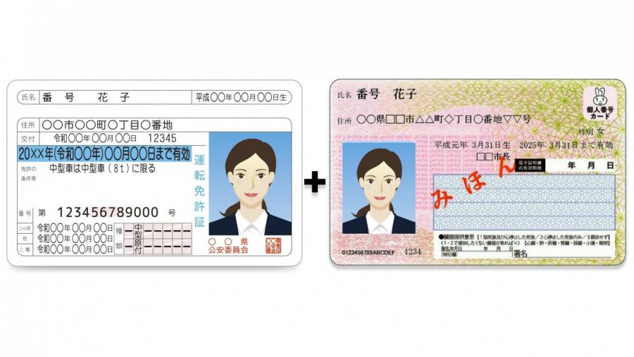 運転免許証とマイナンバーカード