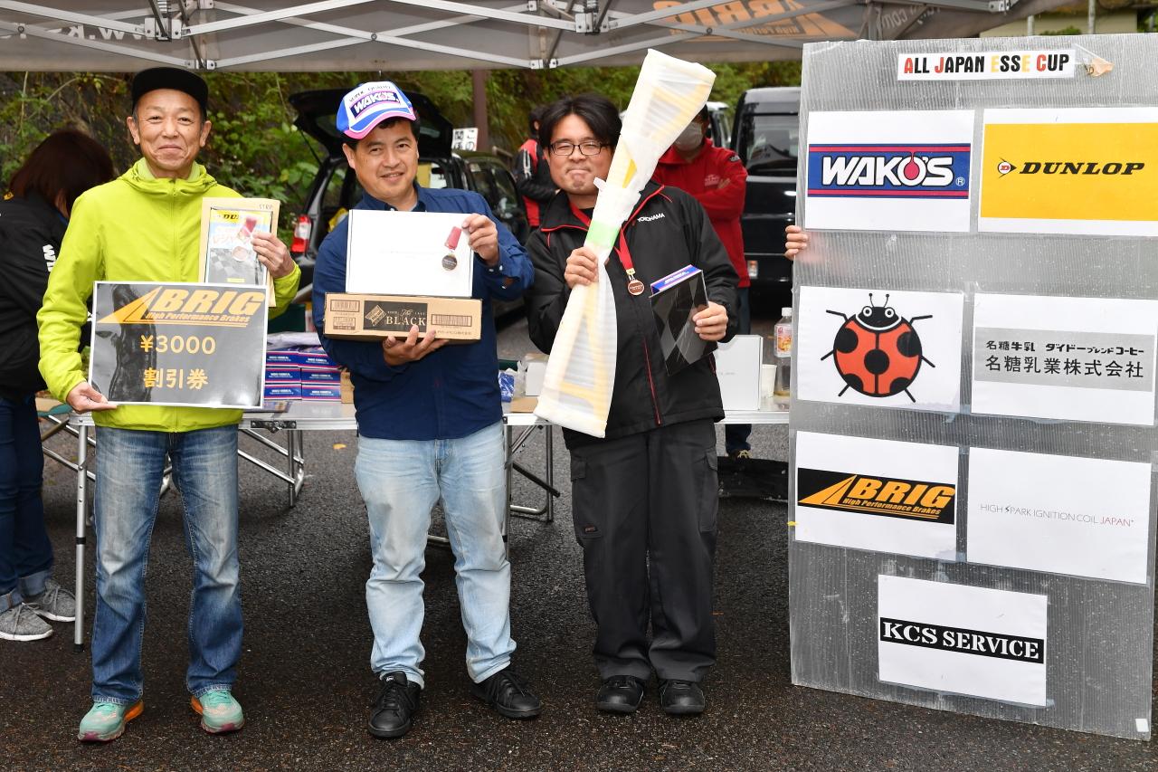 ALL JAPAN ESSE CUP第3戦表彰台