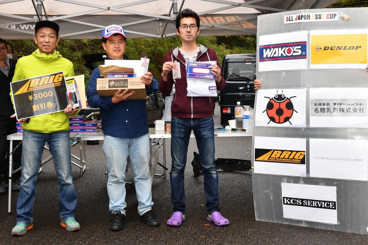 ALL JAPAN ESSE CUP第4戦表彰台