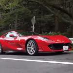 フェラーリ 812 スーパーファストを50km/hで走らせるのは清水和夫への拷問!?「V12・NAは完全バランス、ヤバイ!」【頑固一徹 和】 - kazuoshimizu_ferrari_812superfast_03