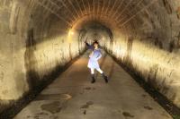 トンネルでの配光テスト