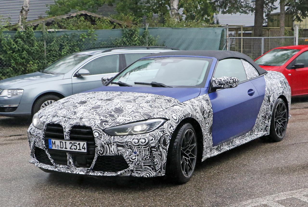 BMW 4シリーズ・最強オープンモデル「M4カブリオレ」、新色フローズンブルーを目撃!