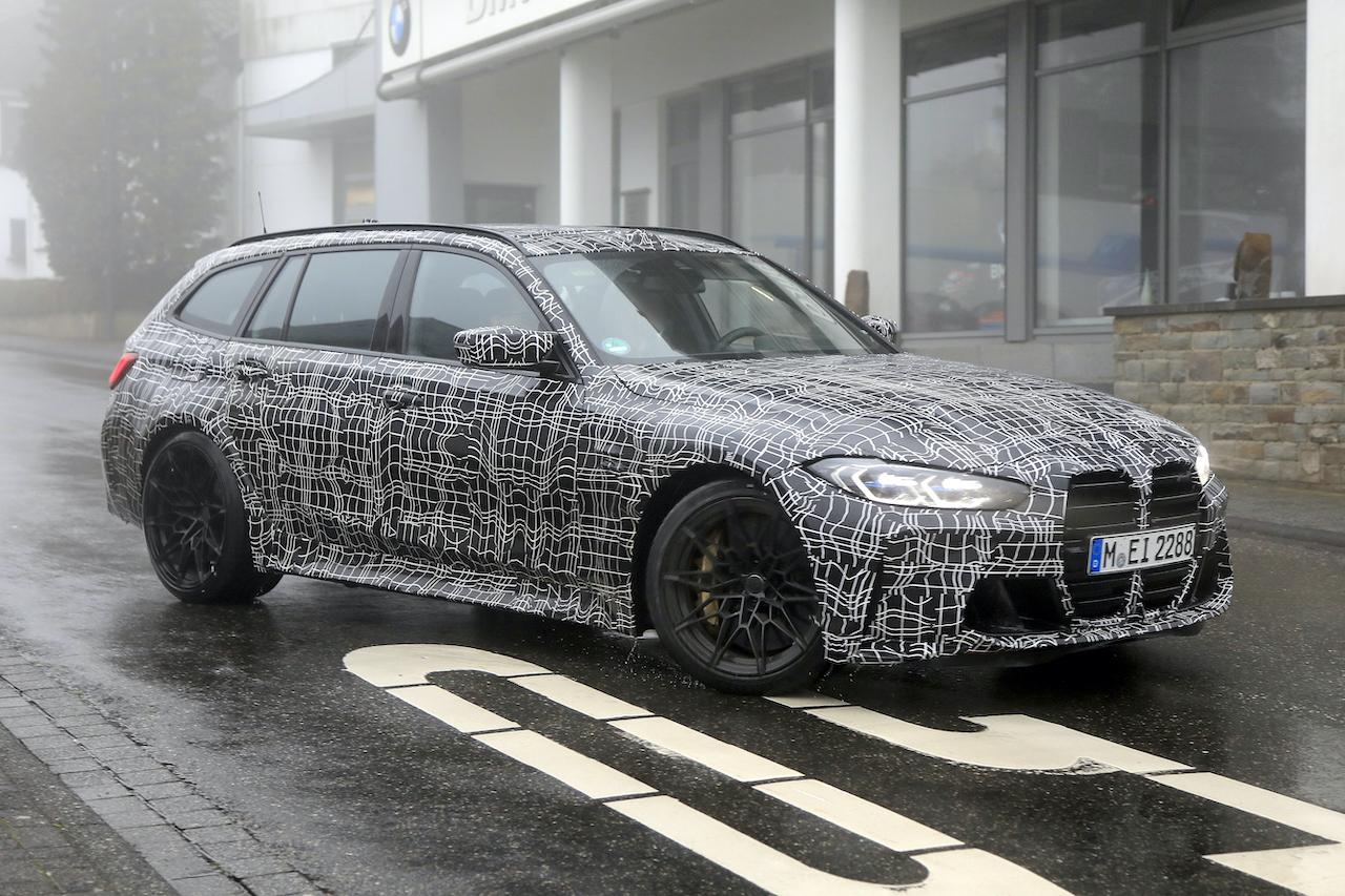 「2022年発売へ! BMW M3初のツーリング、最新プロトタイプをキャッチ」の3枚目の画像