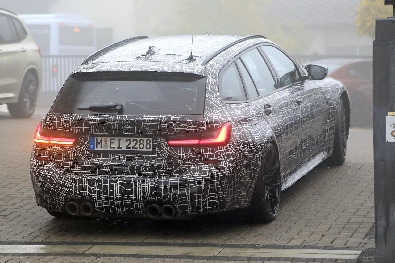 「2022年発売へ! BMW M3初のツーリング、最新プロトタイプをキャッチ」の9枚目の画像