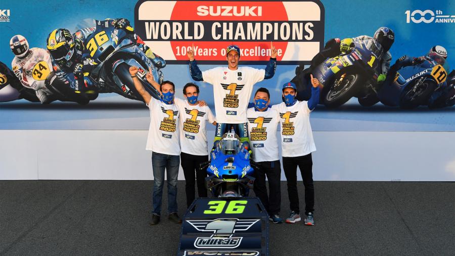 ミル選手MotoGPでスズキ20年ぶりの年間チャンピオン