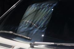 部分強化ガラスの熱処理跡