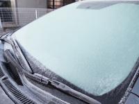 霜の降りたウィンドシールド