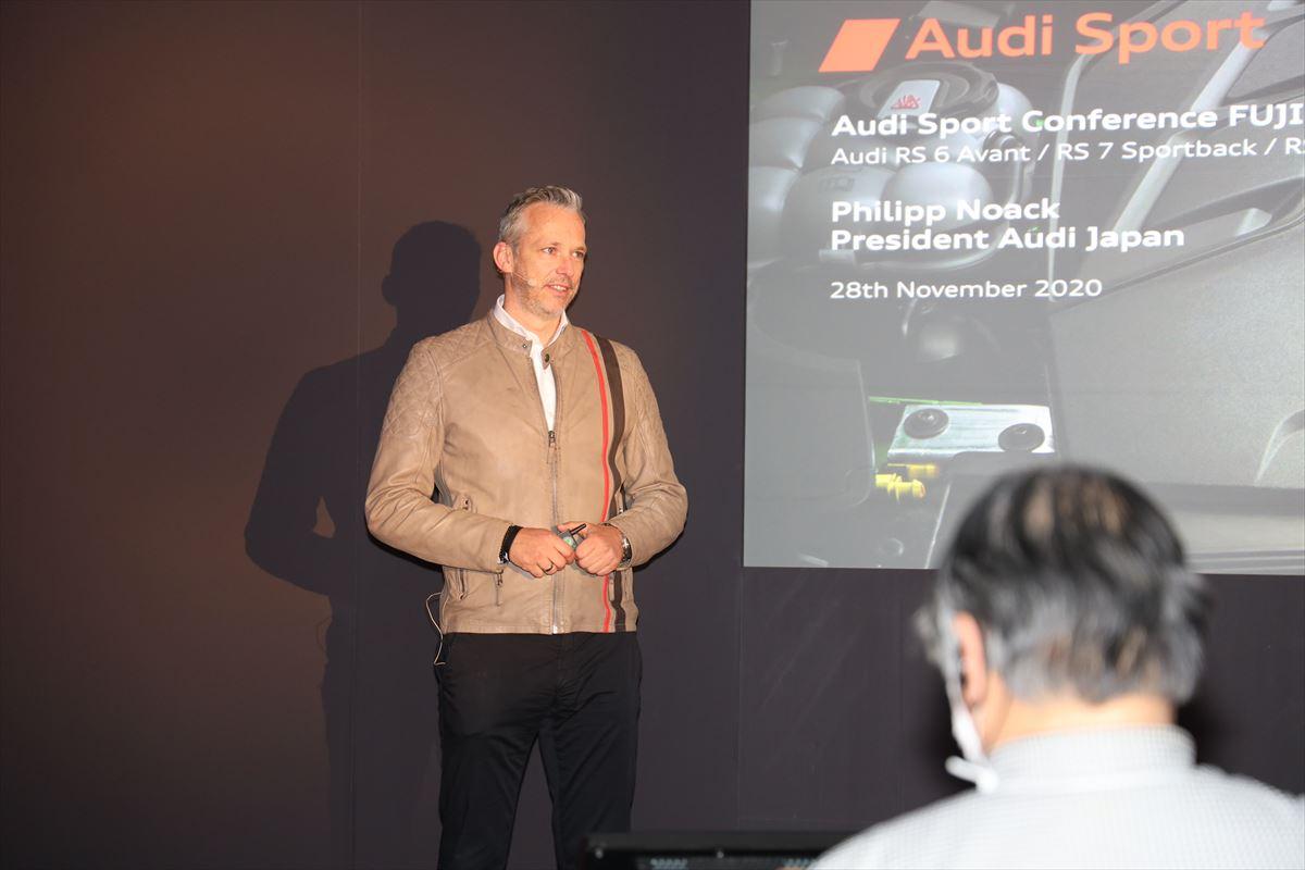 KING of SUV「RS Q8」はじめ「RS6 Avant」「RS7 Sportback」、アウディが新型RSモデル3車種をSUPER GTの富士スピードウェイで公開したわけは?