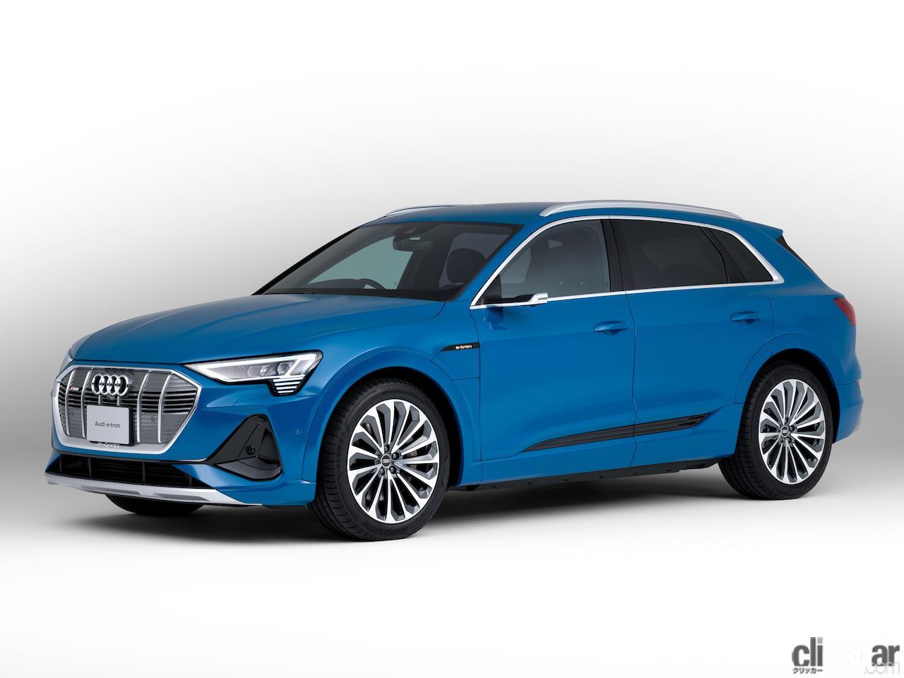 SUVタイプの新型「Audi e-tron」が発売開始。「Audi e-tron Sportback」とともにバッテリー容量71kWhのグレード「50」を設定