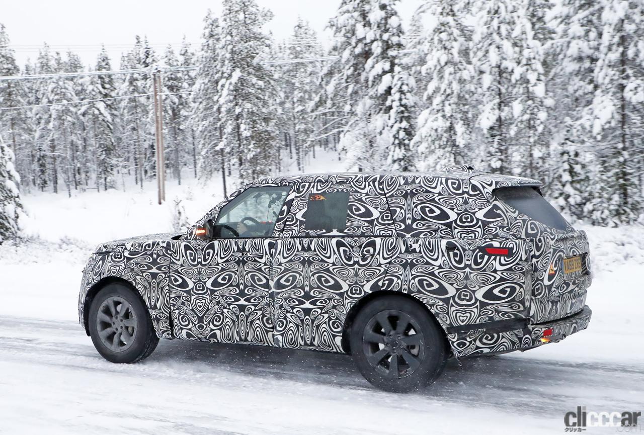 「プレミアムSUVの代名詞・レンジローバーの次期型はBMW製V8で豪雪を激走中」の9枚目の画像