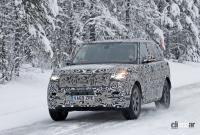 プレミアムSUVの代名詞・レンジローバーの次期型はBMW製V8で豪雪を激走中 - Range Rover 4