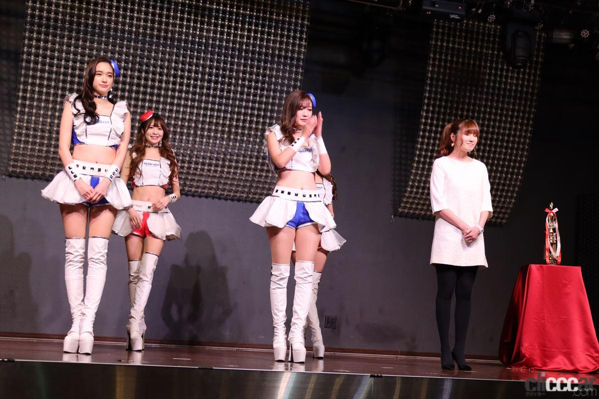受賞したKOBELCO GIRLS/SARDイメージガールのメンバー