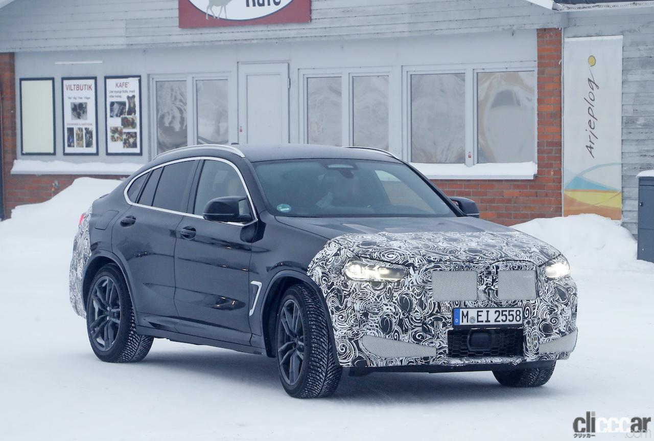 「グリルは「ソコソコ」拡大。BMW X4M改良新型、ブルーブレーキキャリパー初装着!」の1枚目の画像