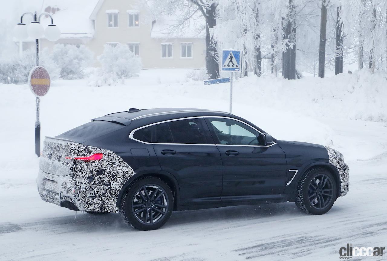 「グリルは「ソコソコ」拡大。BMW X4M改良新型、ブルーブレーキキャリパー初装着!」の10枚目の画像