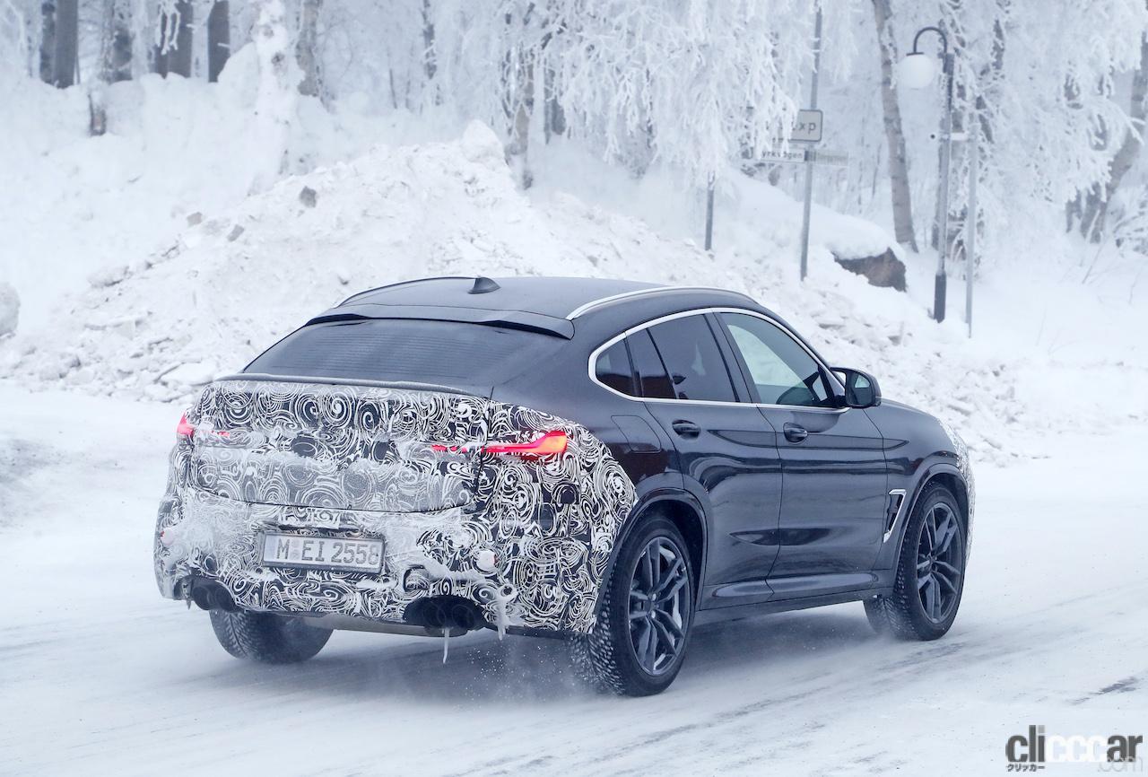 「グリルは「ソコソコ」拡大。BMW X4M改良新型、ブルーブレーキキャリパー初装着!」の11枚目の画像