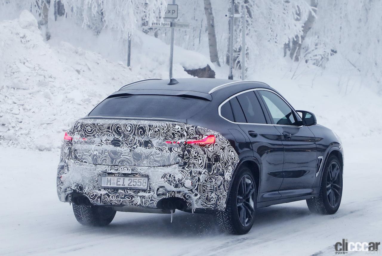 「グリルは「ソコソコ」拡大。BMW X4M改良新型、ブルーブレーキキャリパー初装着!」の12枚目の画像