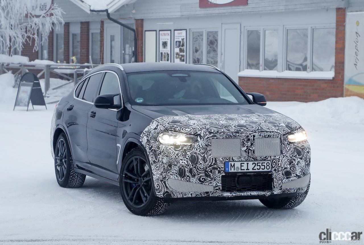 「グリルは「ソコソコ」拡大。BMW X4M改良新型、ブルーブレーキキャリパー初装着!」の4枚目の画像