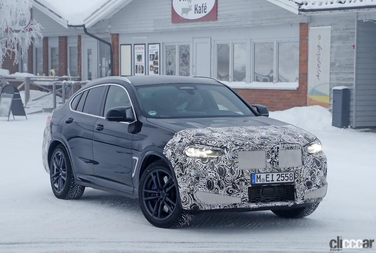 「グリルは「ソコソコ」拡大。BMW X4M改良新型、ブルーブレーキキャリパー初装着!」の5枚目の画像