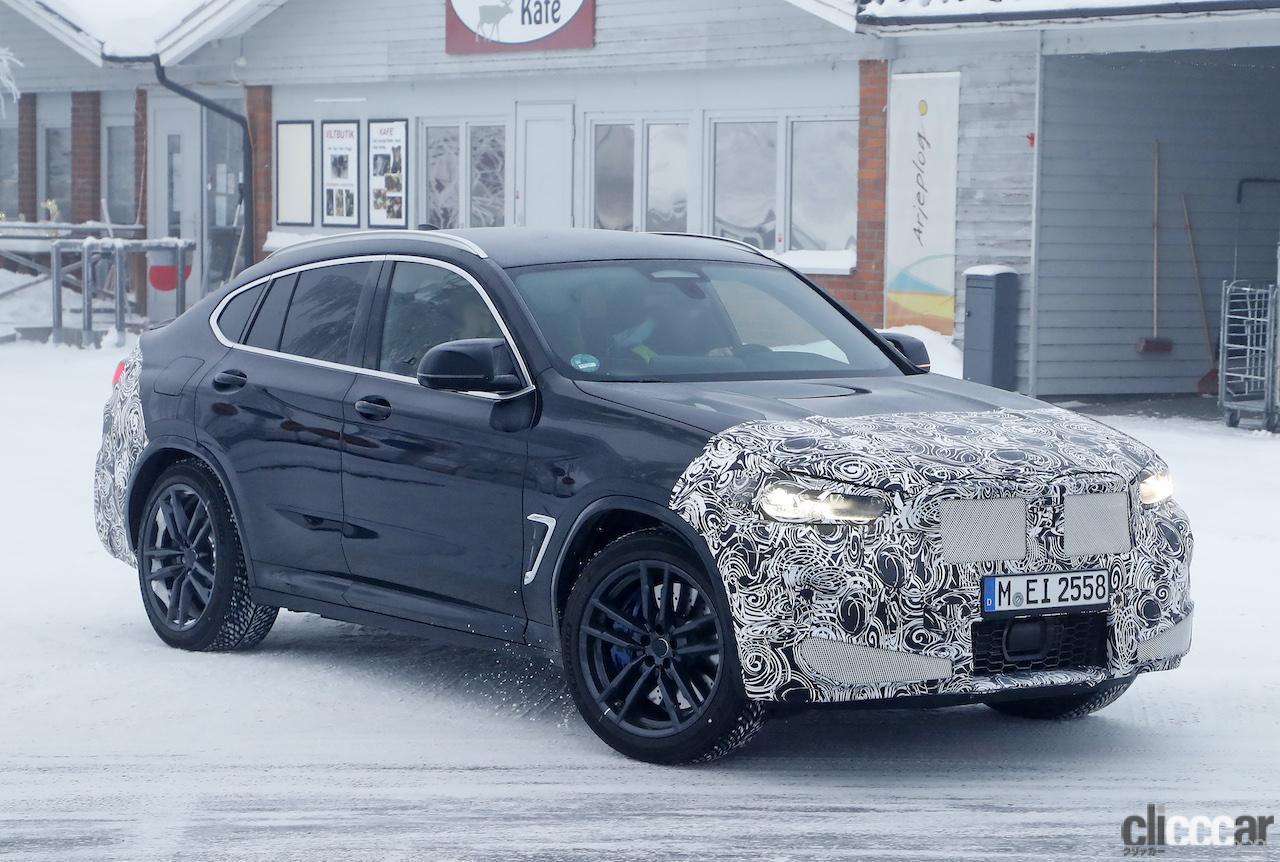 「グリルは「ソコソコ」拡大。BMW X4M改良新型、ブルーブレーキキャリパー初装着!」の6枚目の画像