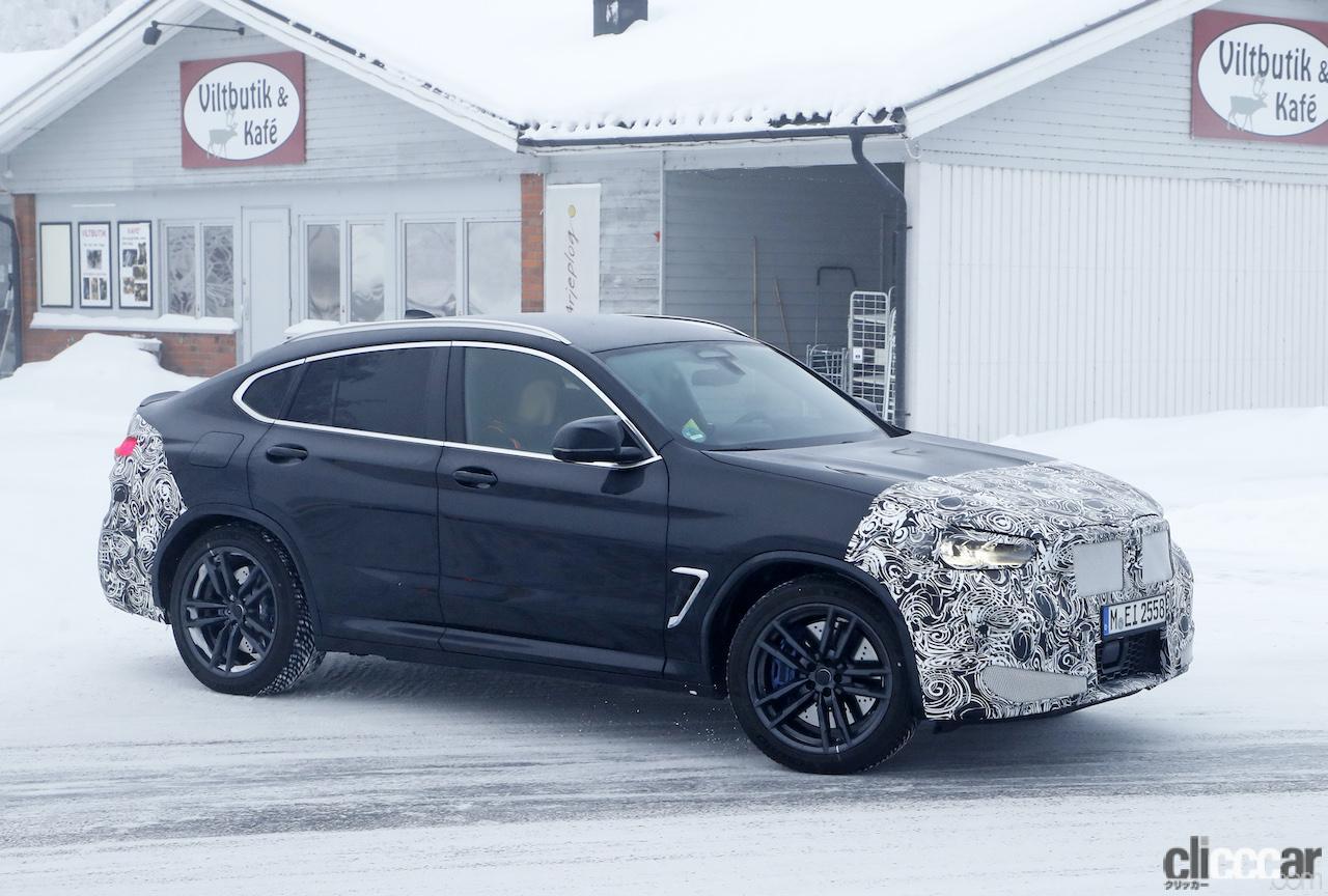「グリルは「ソコソコ」拡大。BMW X4M改良新型、ブルーブレーキキャリパー初装着!」の7枚目の画像