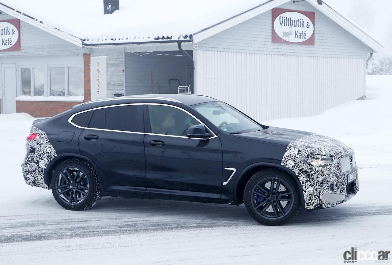 「グリルは「ソコソコ」拡大。BMW X4M改良新型、ブルーブレーキキャリパー初装着!」の8枚目の画像