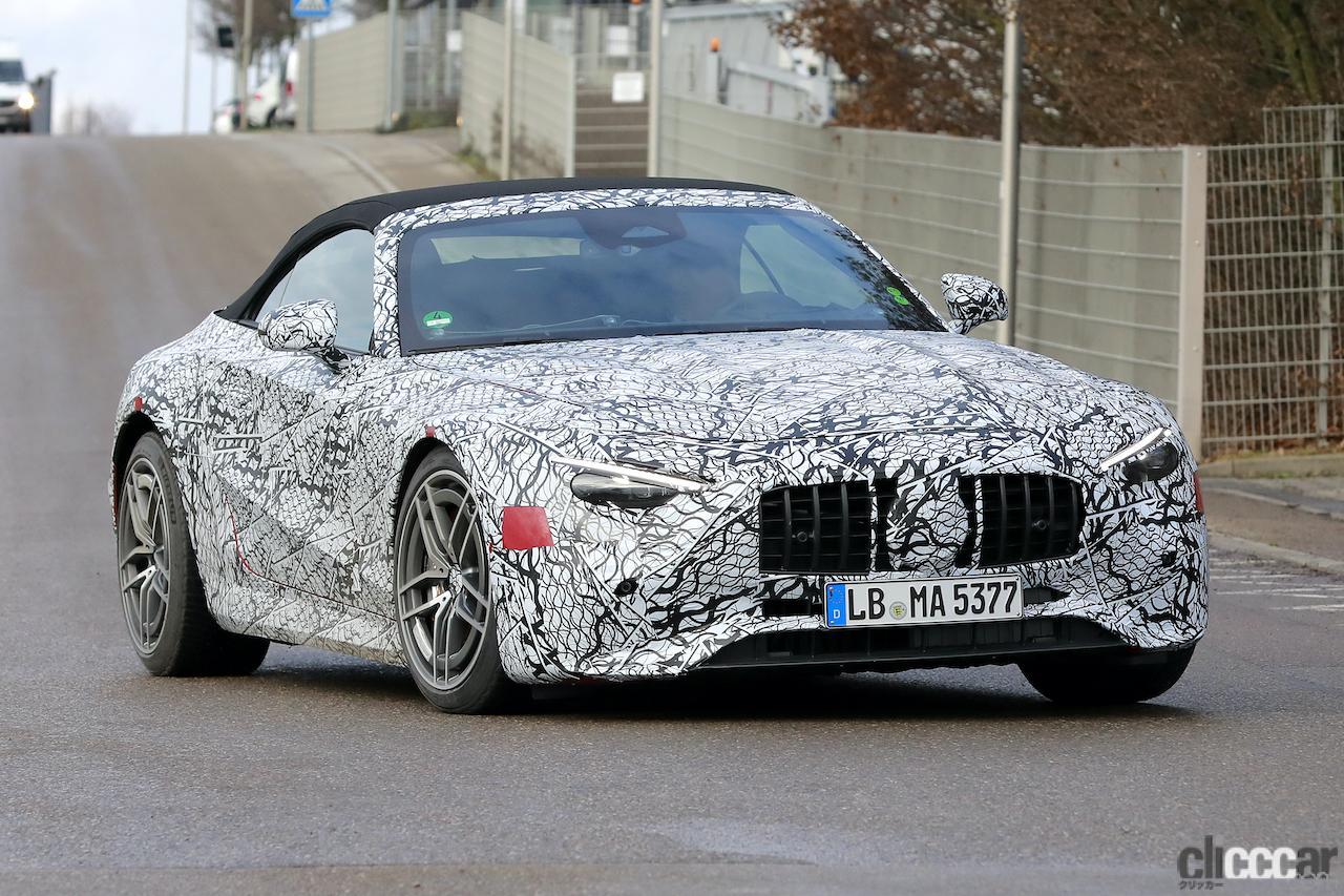 「メルセデスAMG SL次世代型、トップグレードには800馬力の「73e」を設定か!?」の2枚目の画像