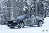 グローバルモデルとして発売の可能性も。ベントレーSUV「ベンテイガLWB」、ウィンターテスト開始! - Bentley Bentayga lwb 2