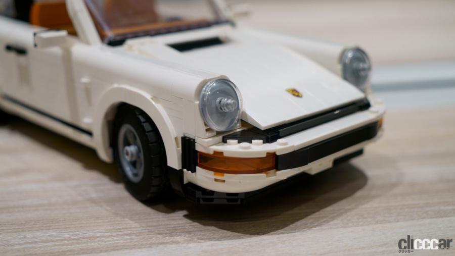 LEGOポルシェ911/ヘッドライトは既存パーツながら911のアイデンティティを角度で表現