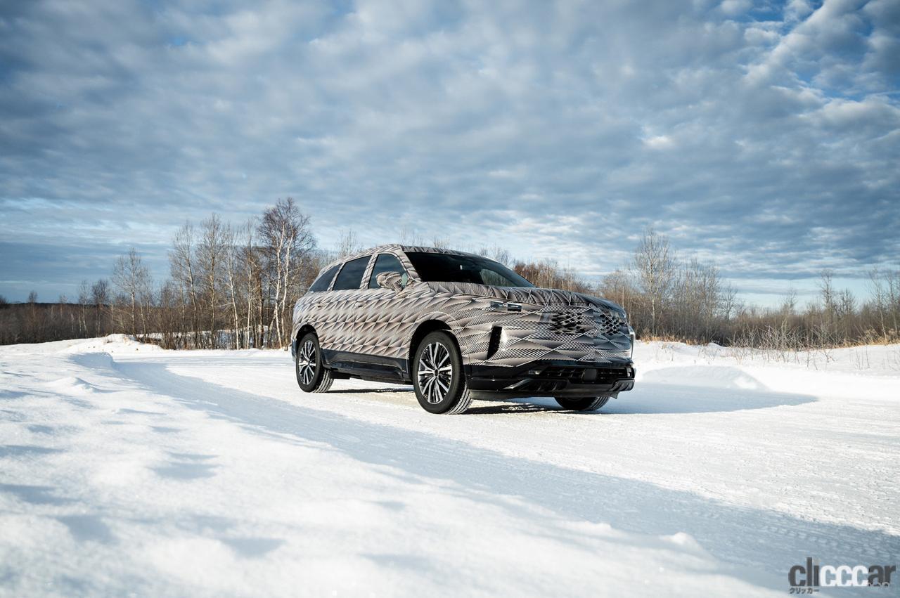 「「アクティブブレーキリミテッドスリップ」搭載した、インフィニティQX60の最新プロトタイプが雪上テスト」の2枚目の画像