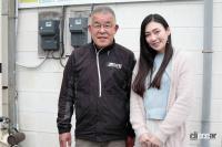 緑整備の内永社長と奈々美さん