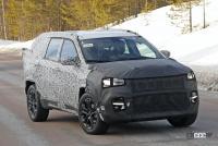 ジープに新型7シーターCUV登場か!? 市販型プロトタイプを初スクープ - Jeep Compass based 7 seater 3